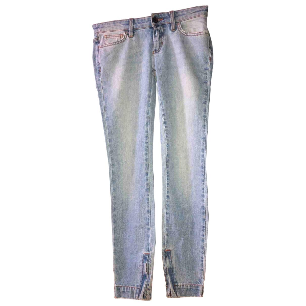 Dolce & Gabbana \N Blue Denim - Jeans Trousers for Women 36 IT