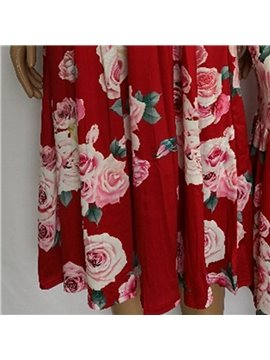 Mommy and Daughter Dress Summer Floral Dress Family Clothing Mother Me Parent-Child Outfits