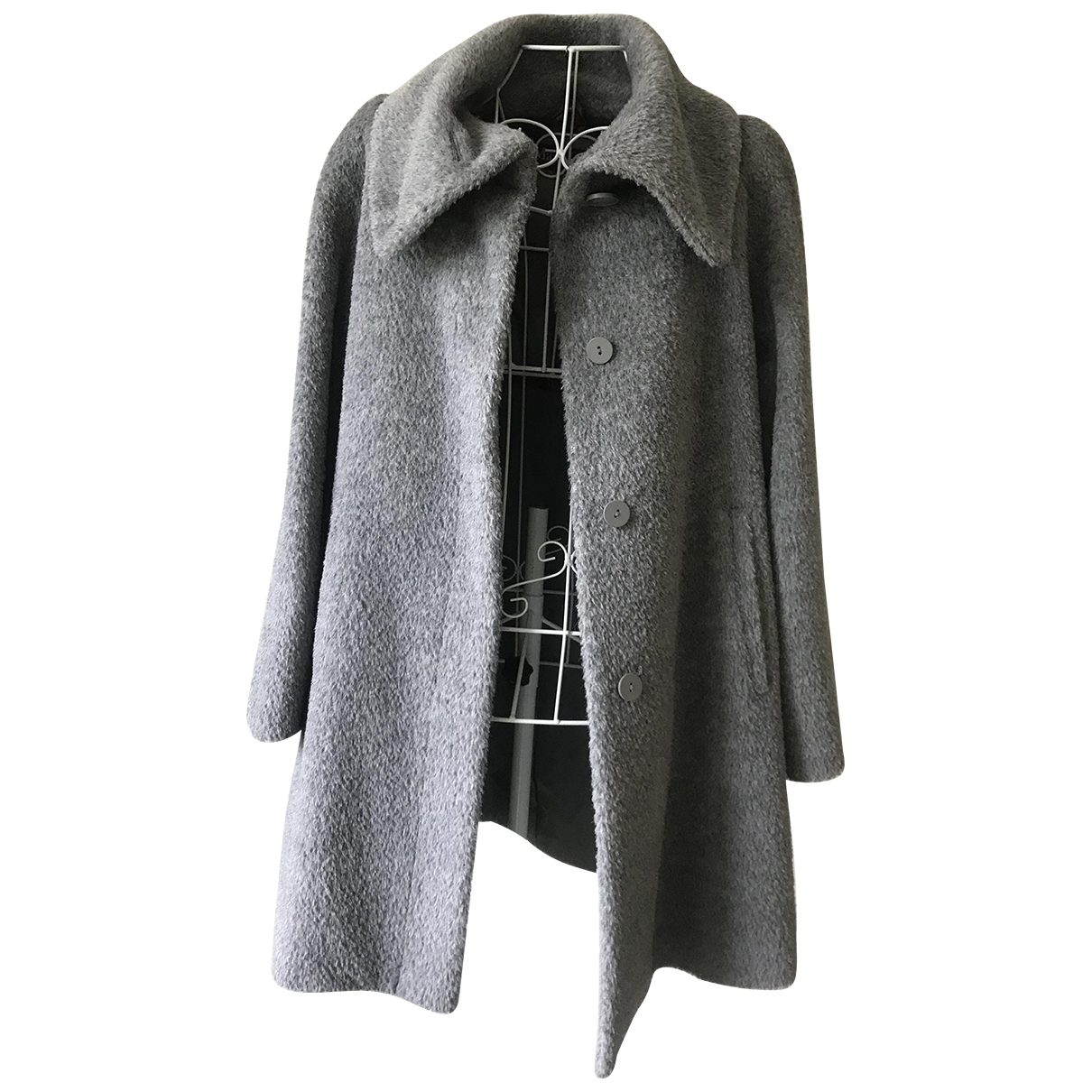 Max Mara Studio \N Grey Wool coat for Women 4 US