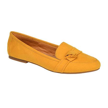 Journee Collection Womens Marci Slip-on Round Toe Loafers, 8 Medium, Yellow