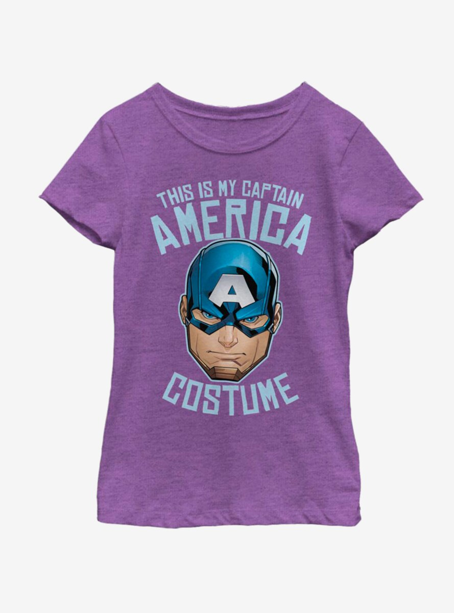 Marvel Captain America Costume Youth Girls T-Shirt
