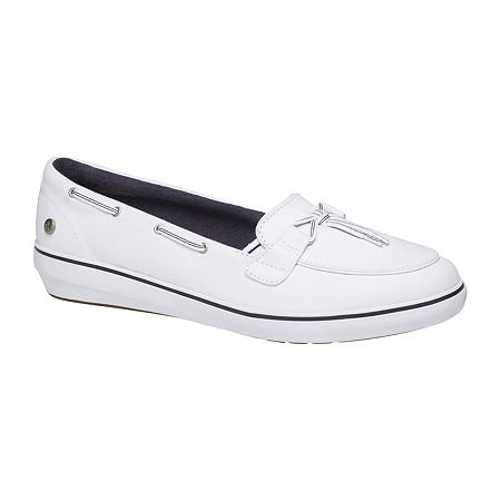 Grasshoppers Womens Windsor Lace Slip-On Shoes, 11 Medium, White