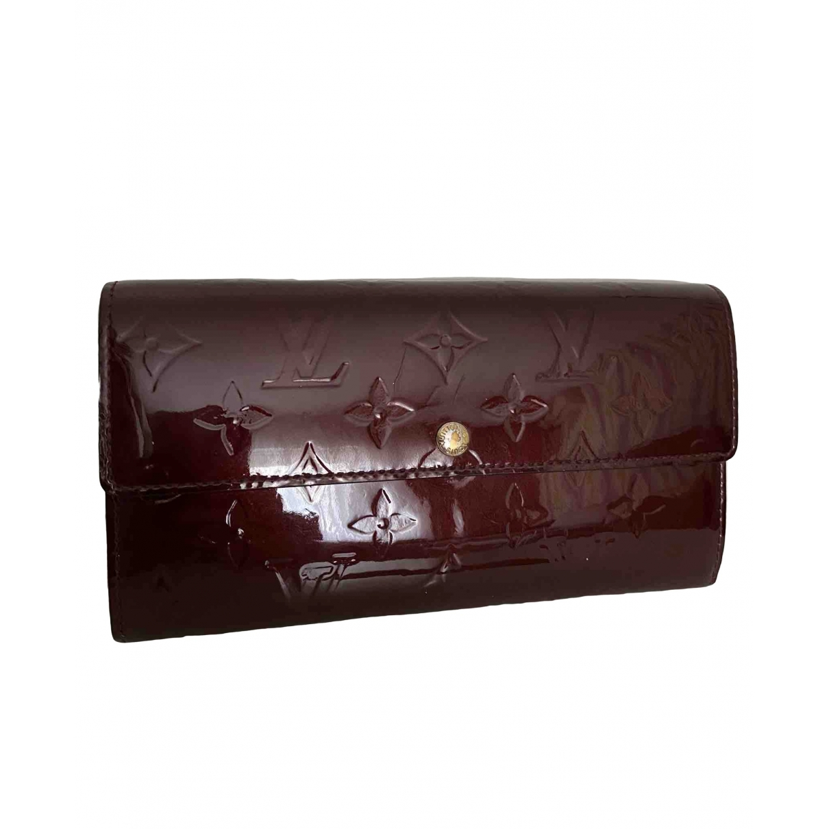 Louis Vuitton Virtuose Burgundy Patent leather wallet for Women \N