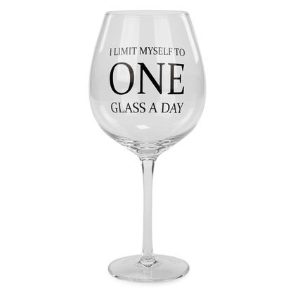 Grand verre à vin - One Glass a Day