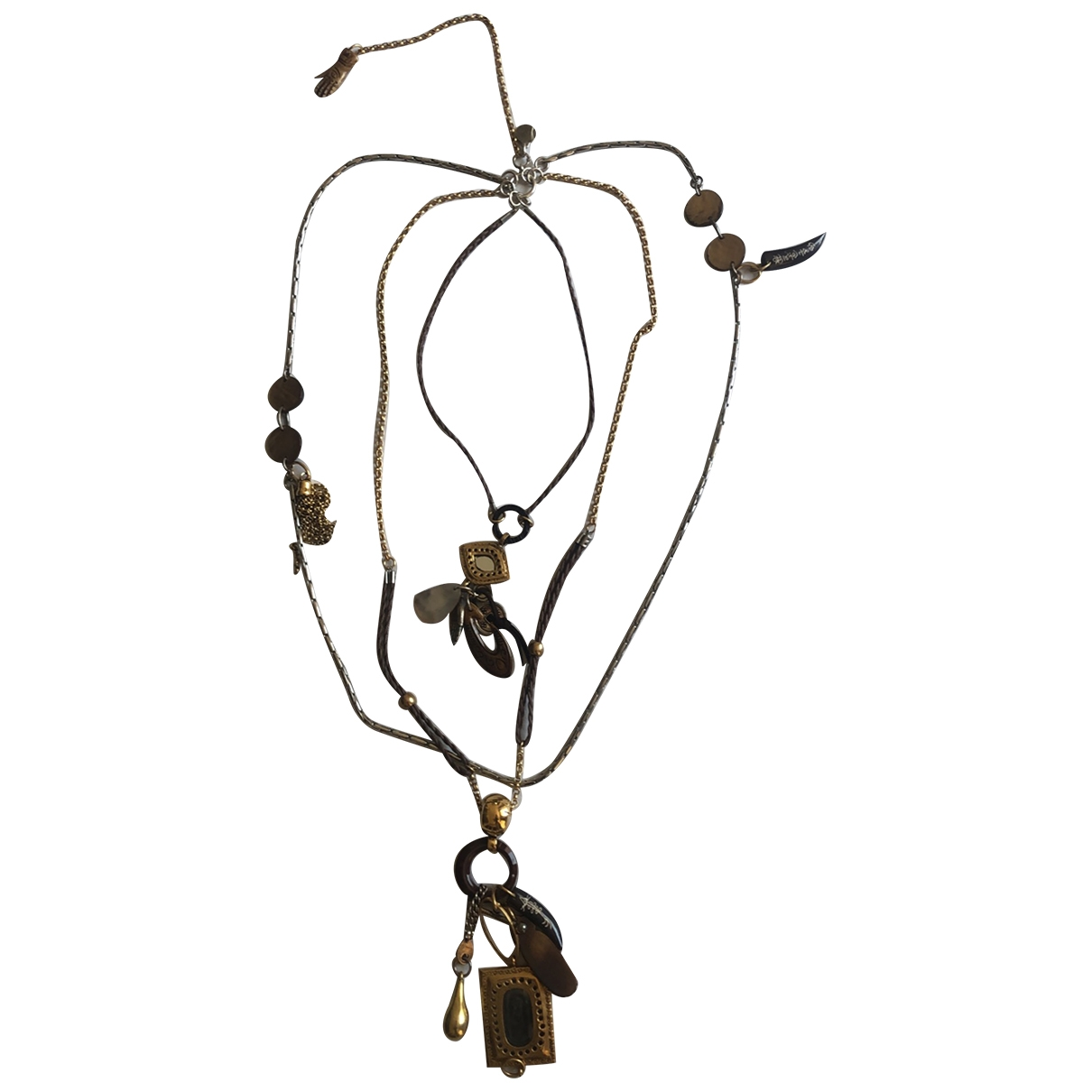 Reminiscence \N Brown Steel Long necklace for Women \N