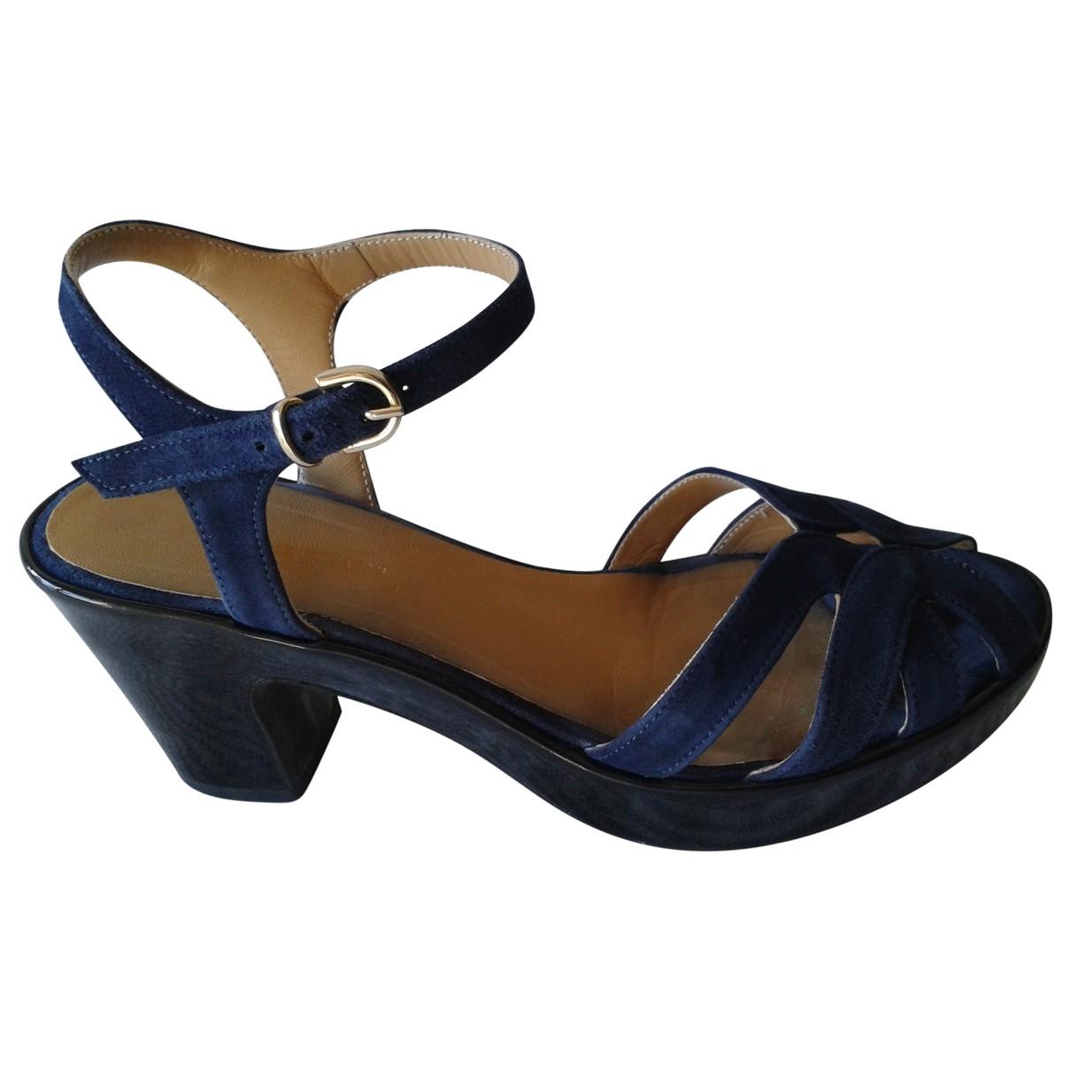 Carel \N Blue Leather Heels for Women 37 IT