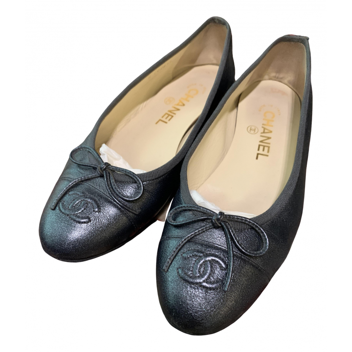 Chanel \N Blue Leather Ballet flats for Women 36.5 IT