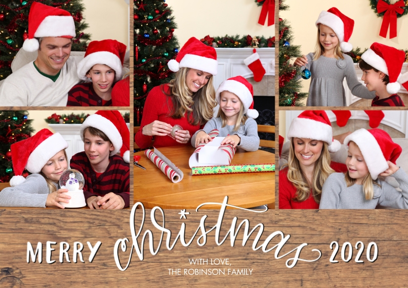 Christmas Photo Cards 5x7 Cards, Standard Cardstock 85lb, Card & Stationery -2020 Merry Script Christmas by Tumbalina