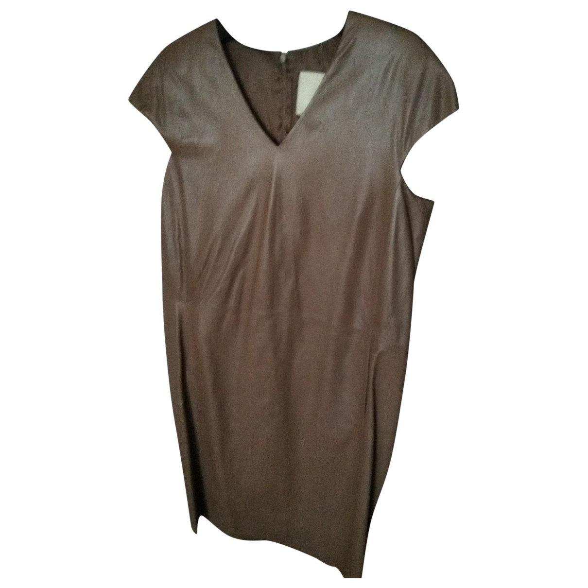 Max Mara 's \N Camel Leather dress for Women 46 IT