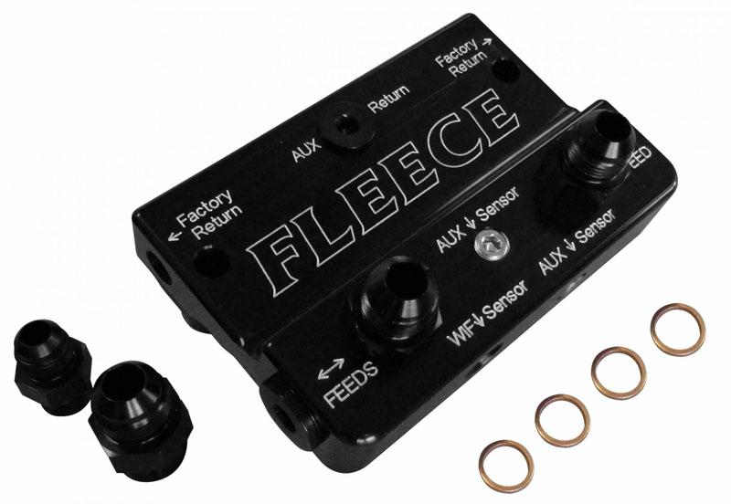 Fleece Performance FPE-DPK-67-02-3K-DX-OG 2010-2012 6.7L Cummins Deluxe Dual Pump Kit W/CP3K Orange Pulley