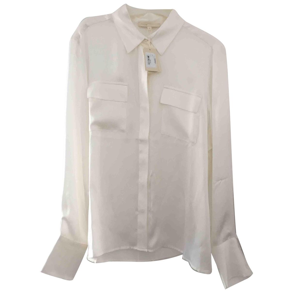 Maje \N Beige Silk  top for Women 40 FR