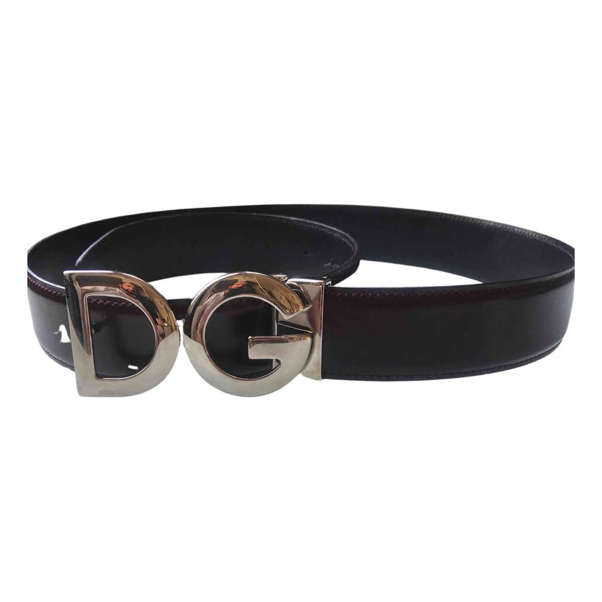 Dolce & Gabbana \N Black Leather belt for Men 95 cm