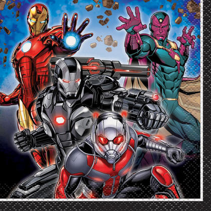 Avengers Beverage Napkins, 16ct For Birthday Party