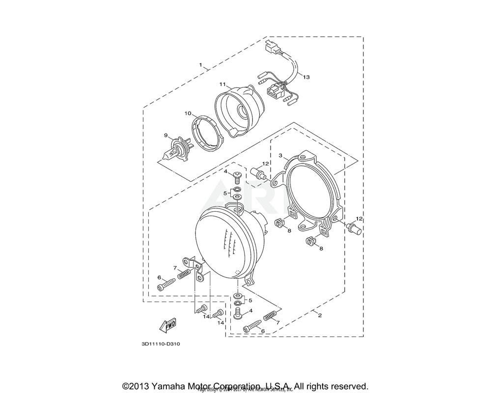 Yamaha OEM 3D1-H4318-00-00 STAY, HEADLIGHT 1