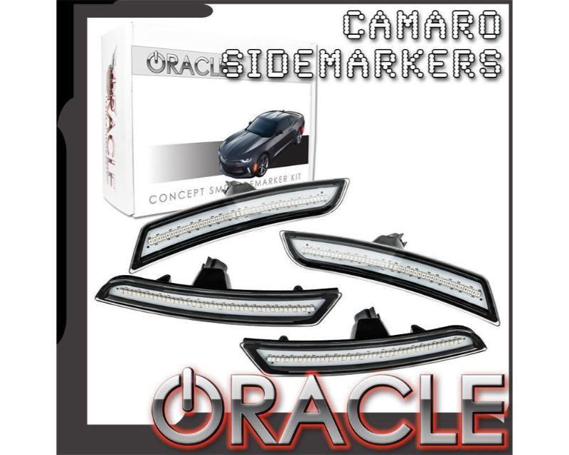 Oracle Lighting 9900-GB8-G Concept SMD Sidemarker Set Mosaic Black Metallic - GHOSTED Chevrolet Camaro 2016-2019