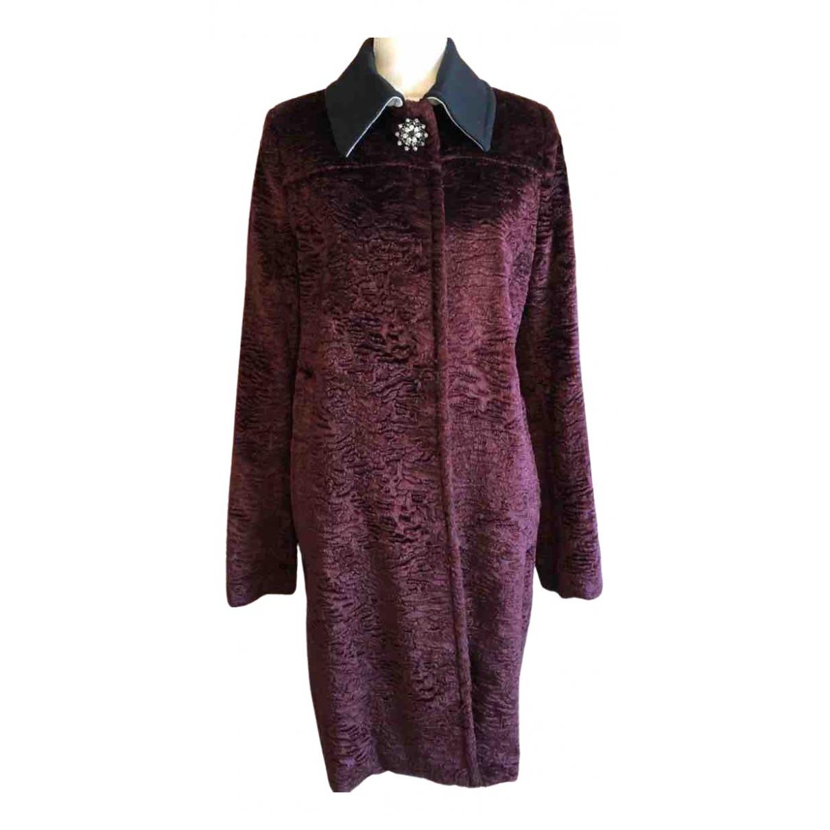 N°21 \N Burgundy Faux fur coat for Women 42 FR
