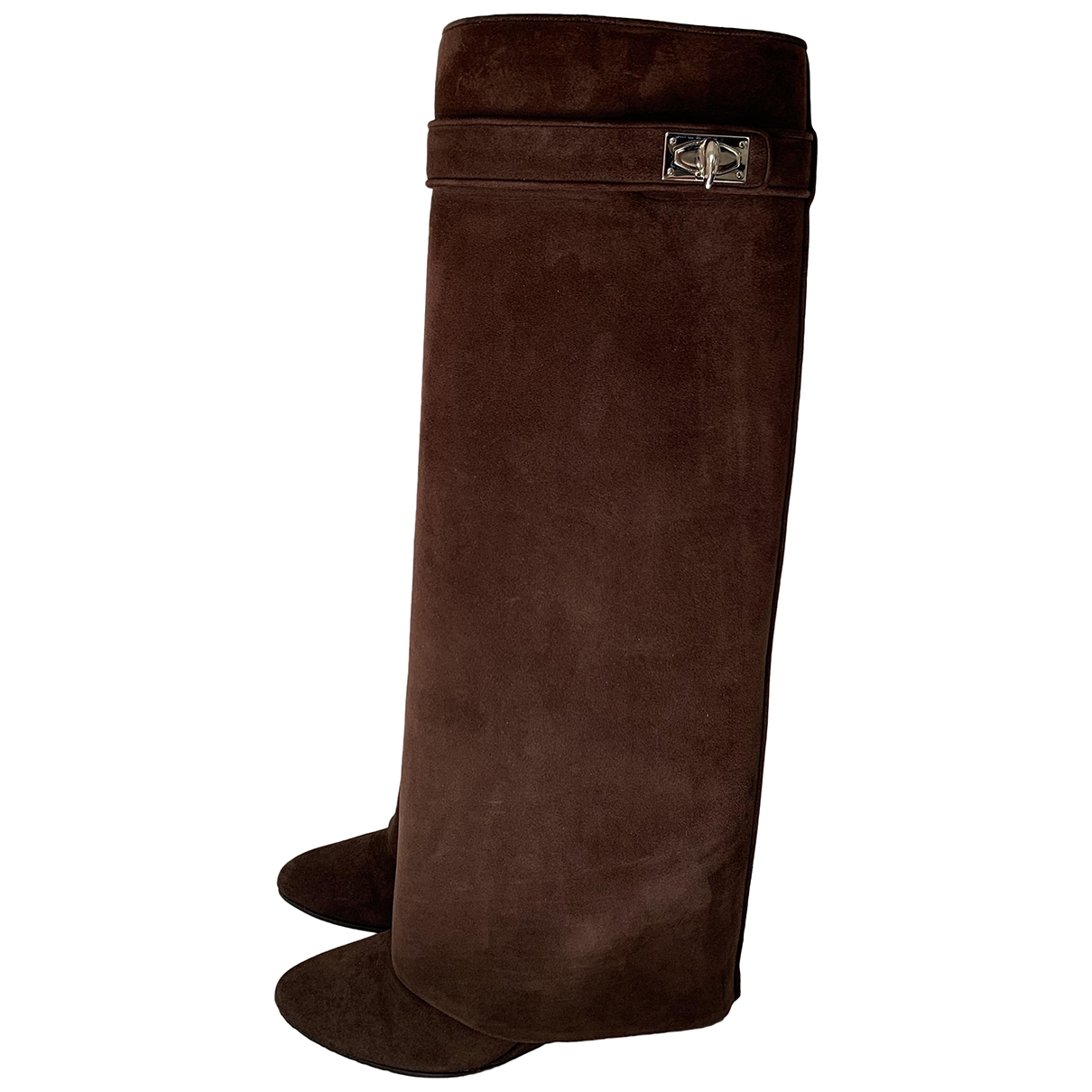 Givenchy Shark Brown Suede Boots for Women 37 EU