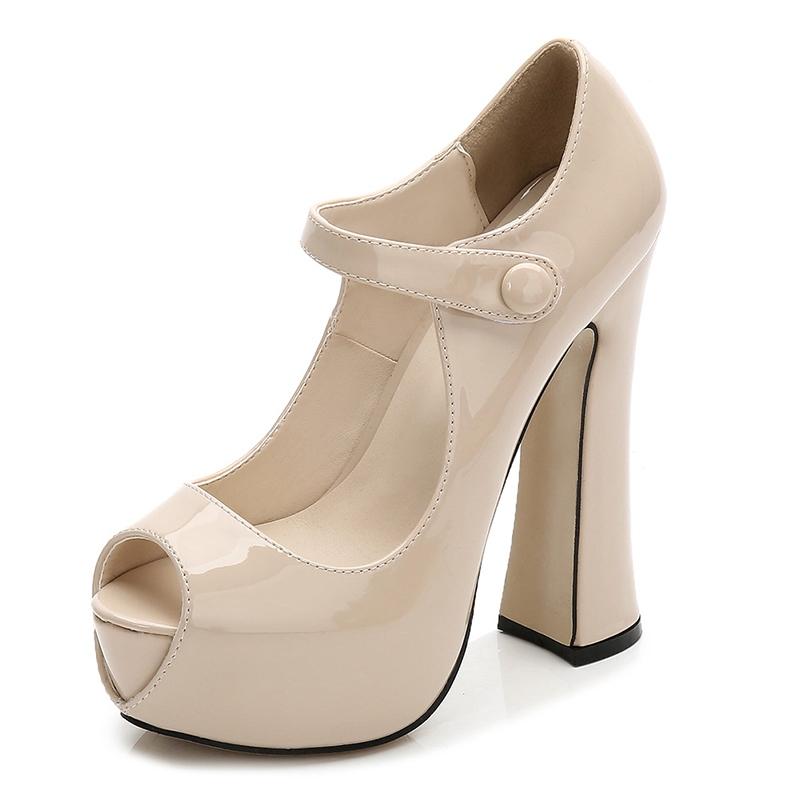 Ericdress Women's Ultra-High Heel Hollow Thin Shoes PU Wedding Shoes