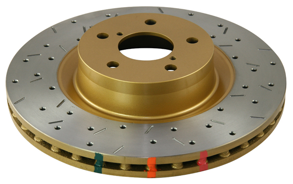 Disc Brakes Australia 4000 Series Rotor - Cross Drilled/Slotted Uni-Directional Rotor Jeep