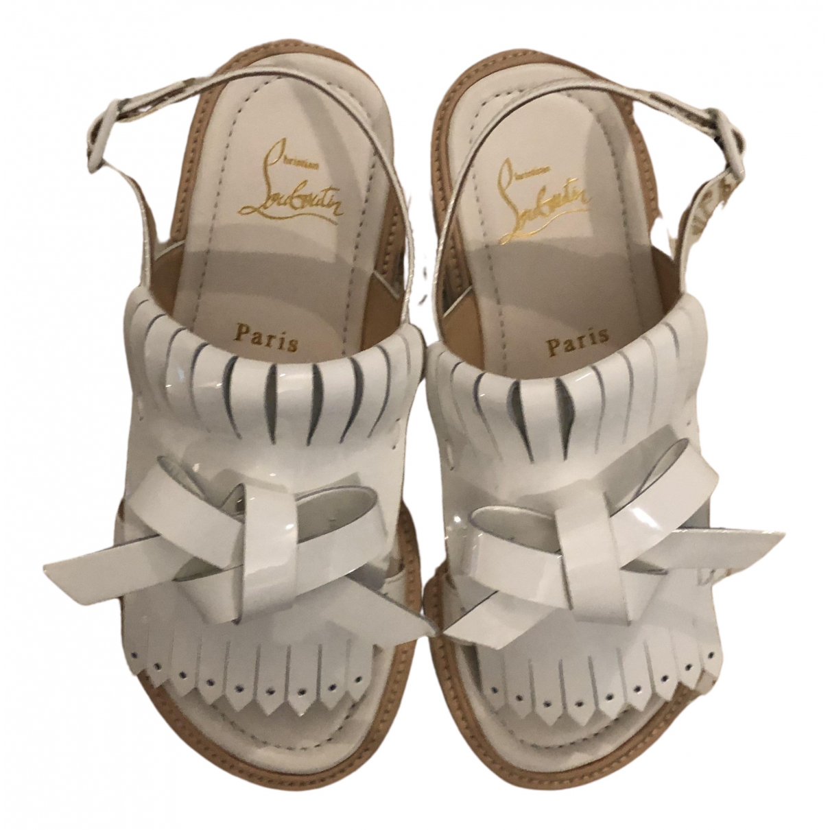 Christian Louboutin \N White Patent leather Sandals for Women 34.5 EU