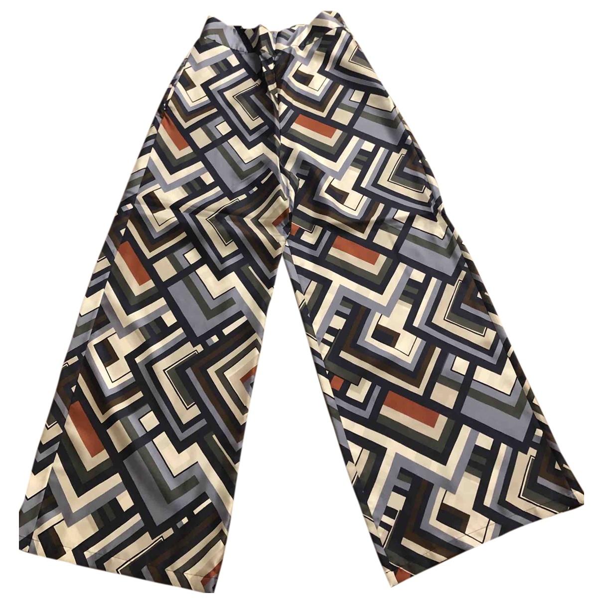 Max Mara 's \N Multicolour Silk Trousers for Women 48 IT