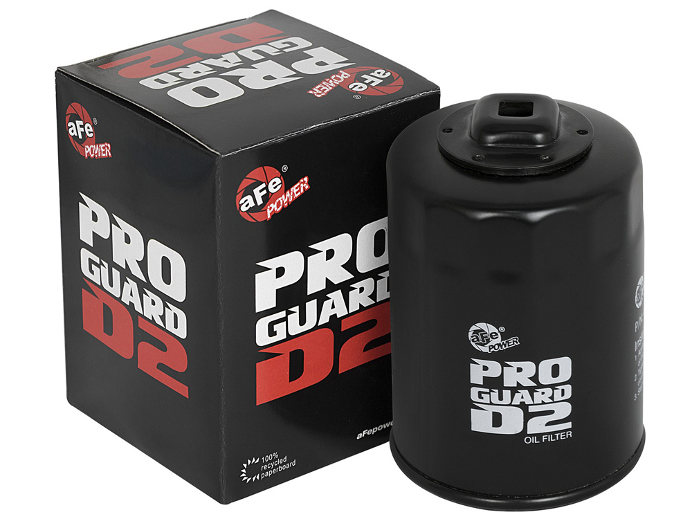 AFE 44-LF025 Pro GUARD D2 Oil Filter Canister: 2.9in OD x 2.9in HT
