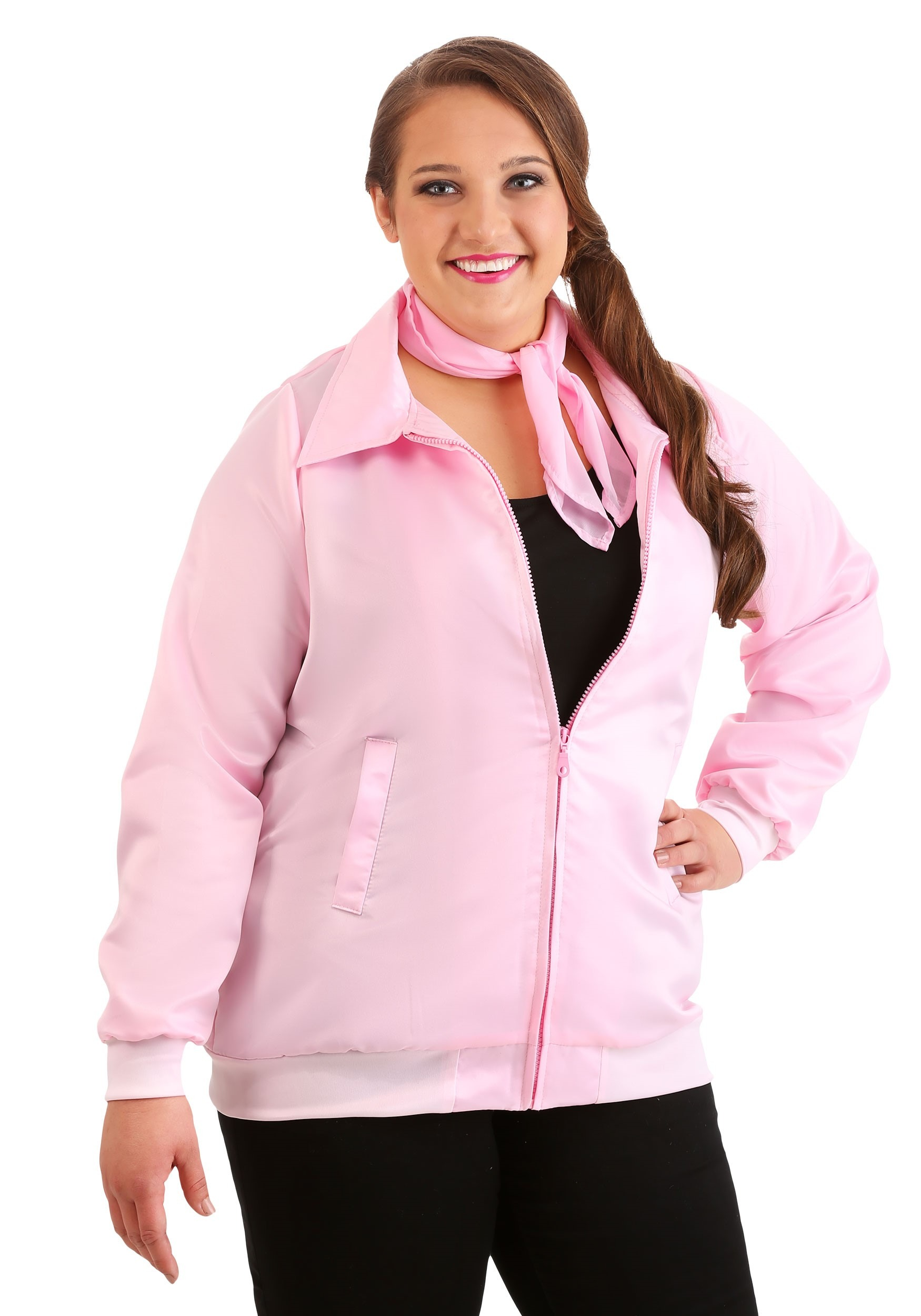 Plus Size Grease Pink Ladies Costume Jacket for Women