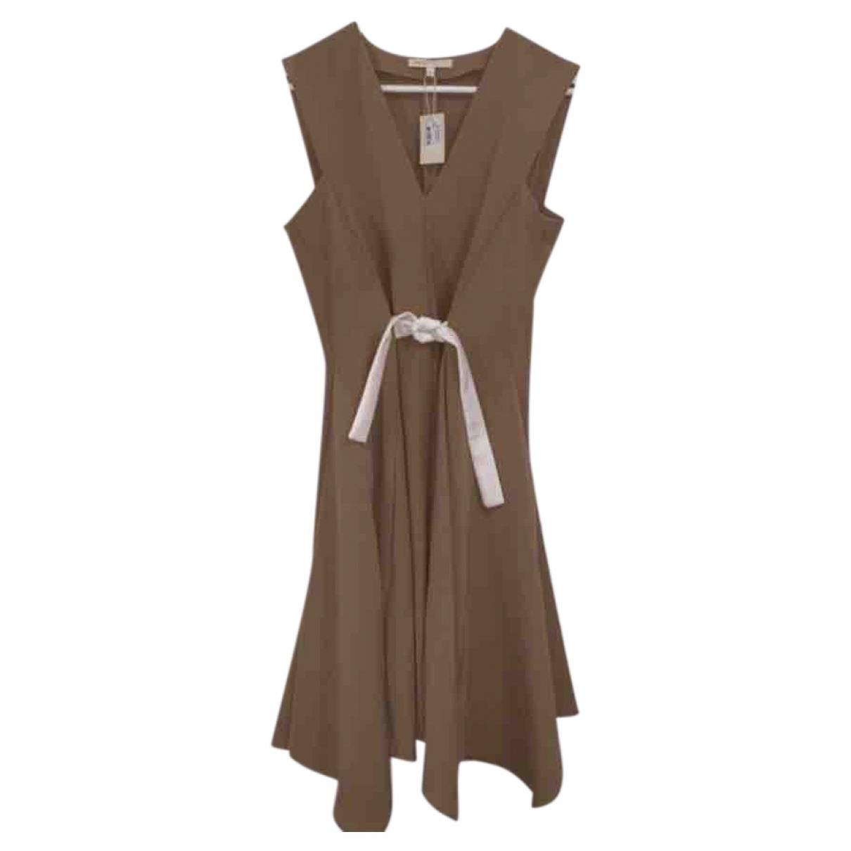 Maje \N Camel Cotton dress for Women 40 FR
