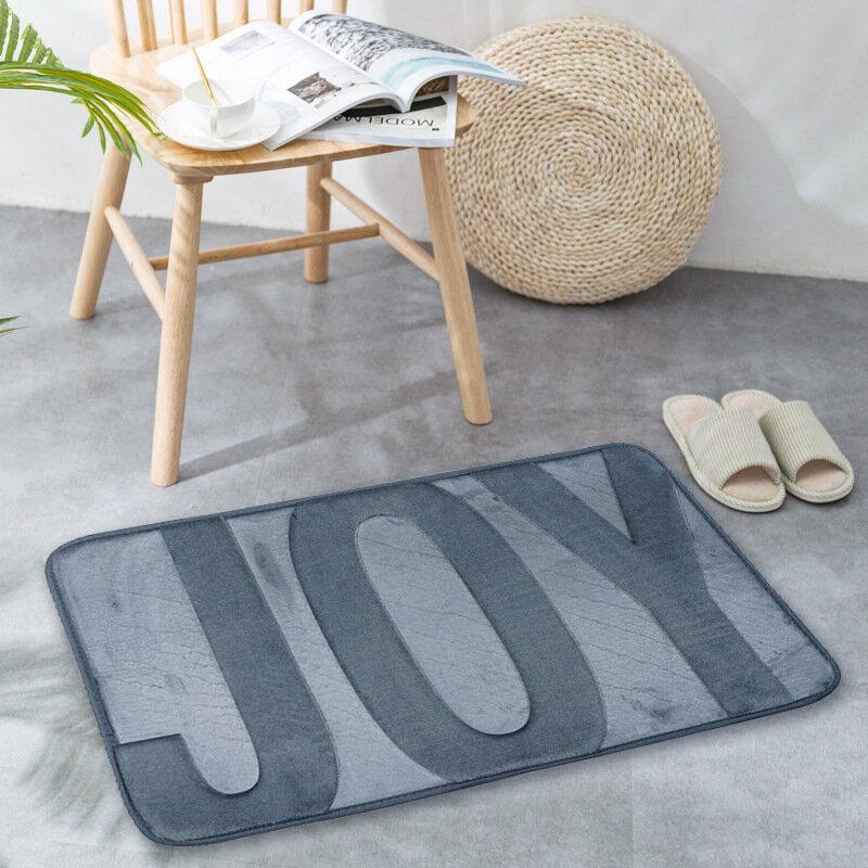 Memory Cotton Slow Rebound Carpet Mat Flannel Absorbent Foot Mat Bathroom Kitchen Household Non-Slip Mat