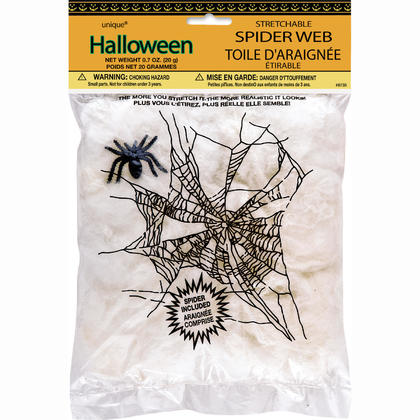 Stretchable Spider Web & Spider