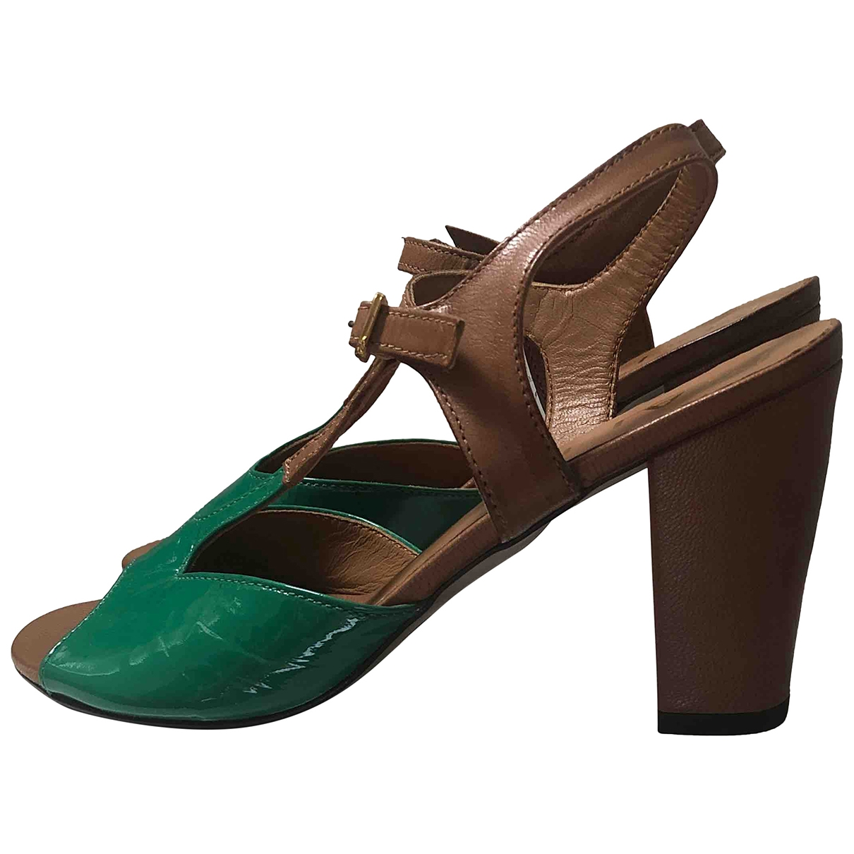 Non Sign?? / Unsigned \N Multicolour Leather Sandals for Women 37 IT