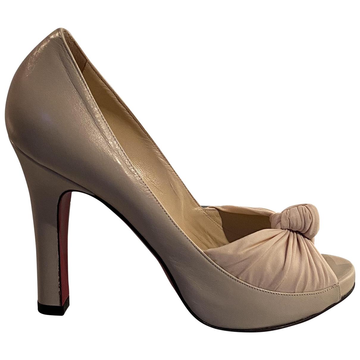 Luciano Padovan \N Beige Leather Heels for Women 37 IT