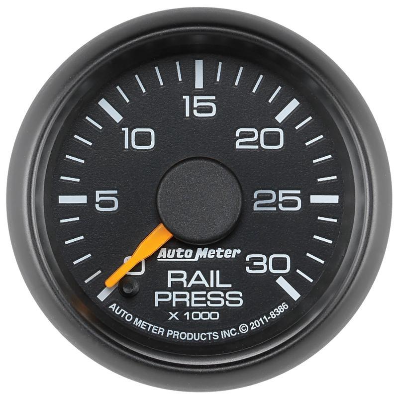 AutoMeter GAUGE; RAIL PRESSURE; 2 1/16in.; 30KPSI; DIGITAL STEPPER MOTOR; GM FACTORY MATCH