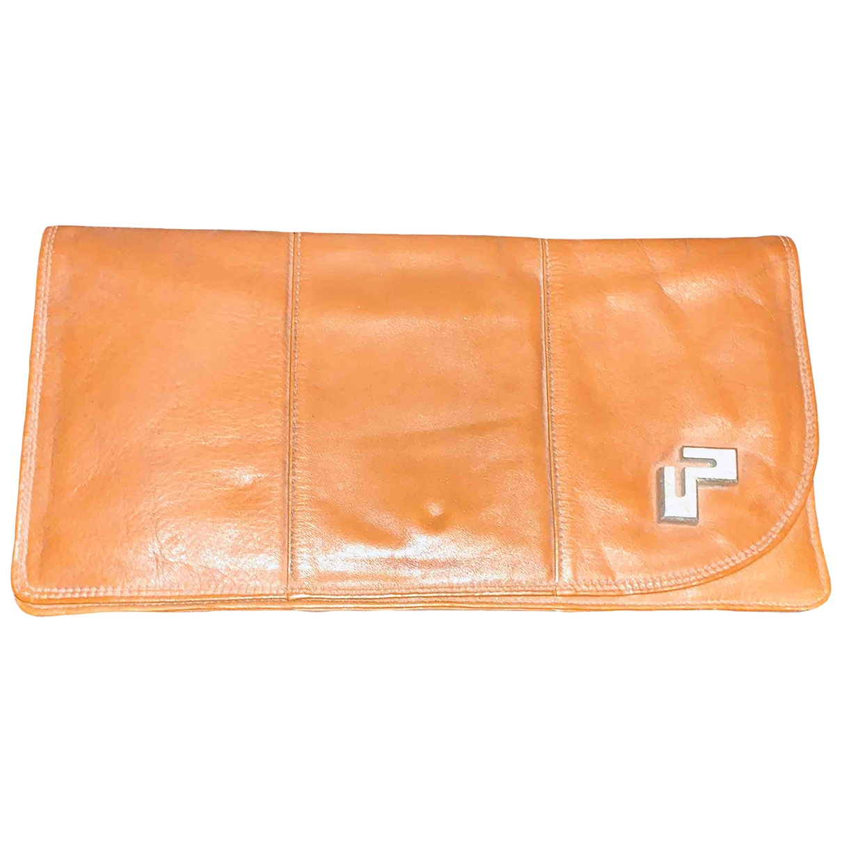 Non Signé / Unsigned \N Camel Leather Clutch bag for Women \N