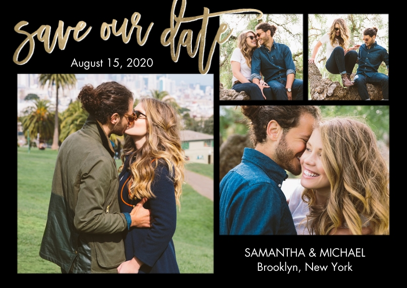 Save the Date 5x7 Cards, Premium Cardstock 120lb with Rounded Corners, Card & Stationery -Save the Date Romantic