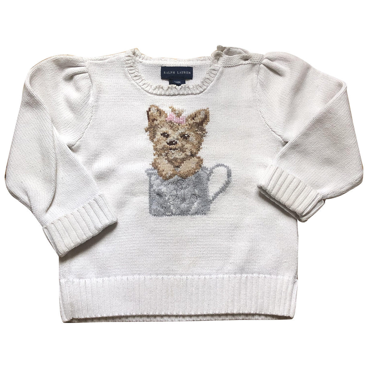 Ralph Lauren \N White Cotton Knitwear for Kids 2 years - up to 86cm FR