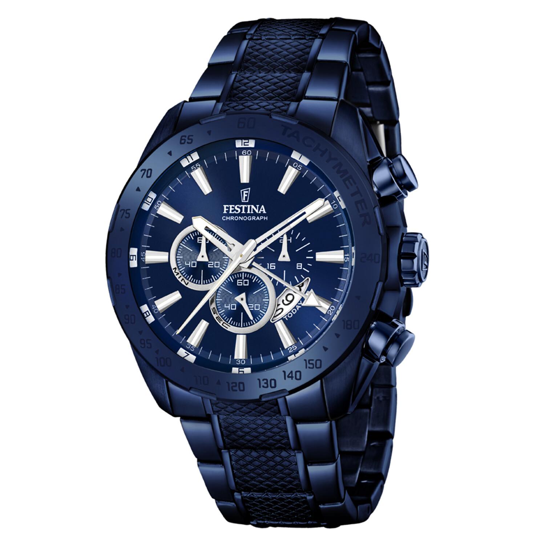 Festina Men's Prestige F16887-1F52 Blue Stainless-Steel Quartz Dress Watch