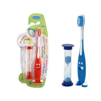 Bodico Enfants Brosse à dents w/ Lave-Timer, 1 randomisés couleur par pack