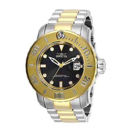 Invicta Pro Diver Mens Automatic Two Tone Stainless Steel Bracelet Watch-29356, One Size , No Color Family