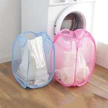 1pc Foldable Random Color Laundry Basket