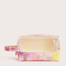 1pc Colorblock Makeup Bag