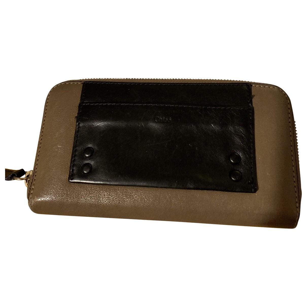Chloé \N Beige Leather Purses, wallet & cases for Women \N