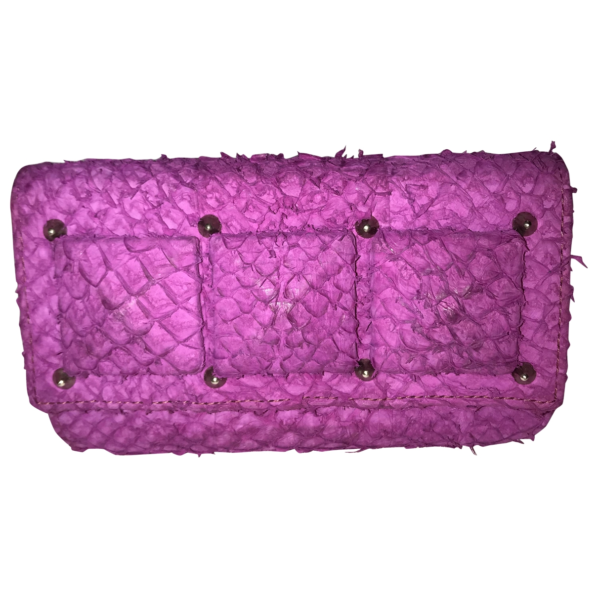 Non Signé / Unsigned \N Pink Water snake Clutch bag for Women \N