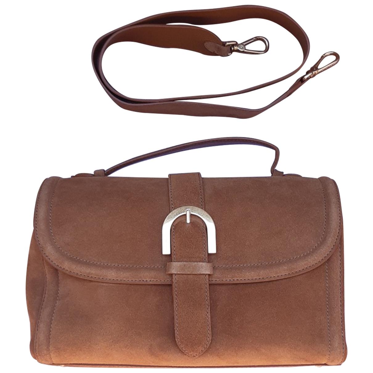 Coccinelle \N Camel Suede handbag for Women \N
