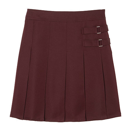 French Toast Little & Big Girls Adjustable Waist Scooter Skirt, 16.5 Plus , Red
