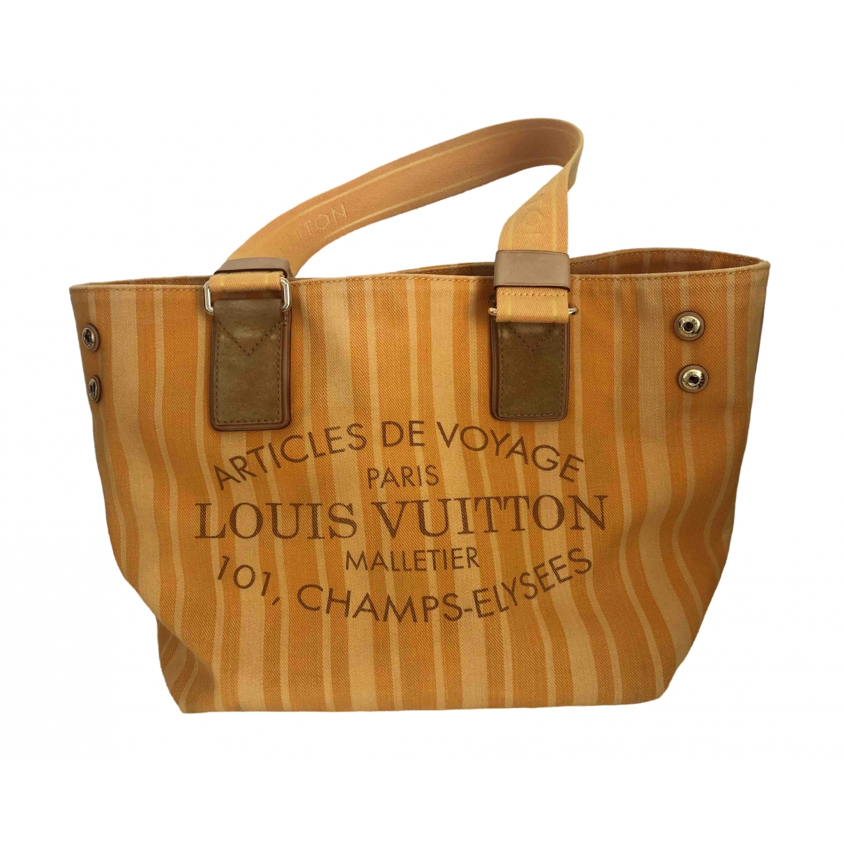 Louis Vuitton \N Yellow Cloth handbag for Women \N
