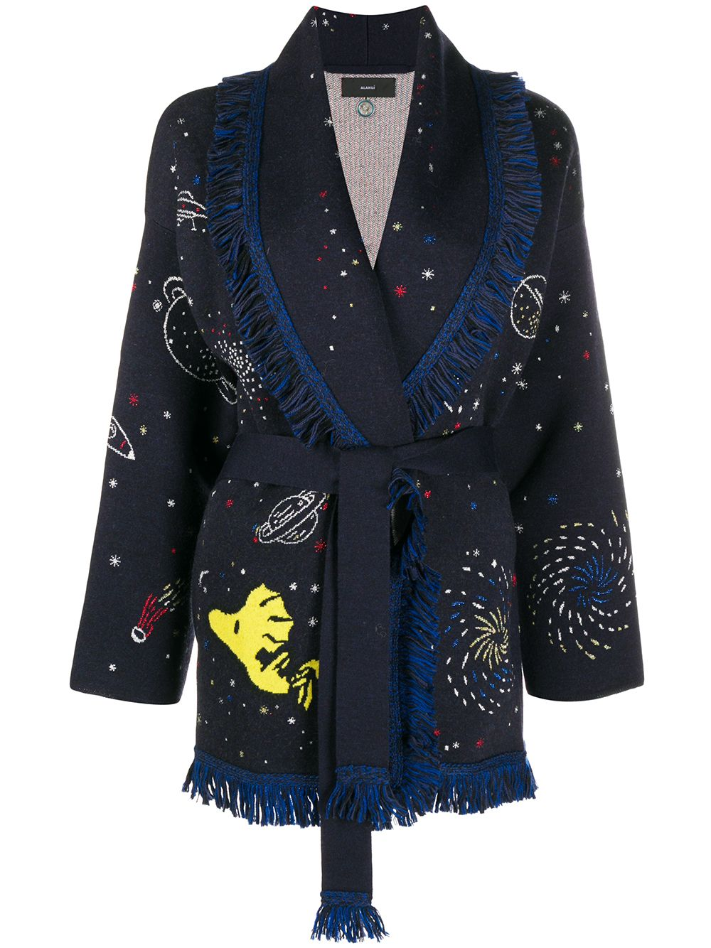 Snoopy Space Out Cashmere Cardigan