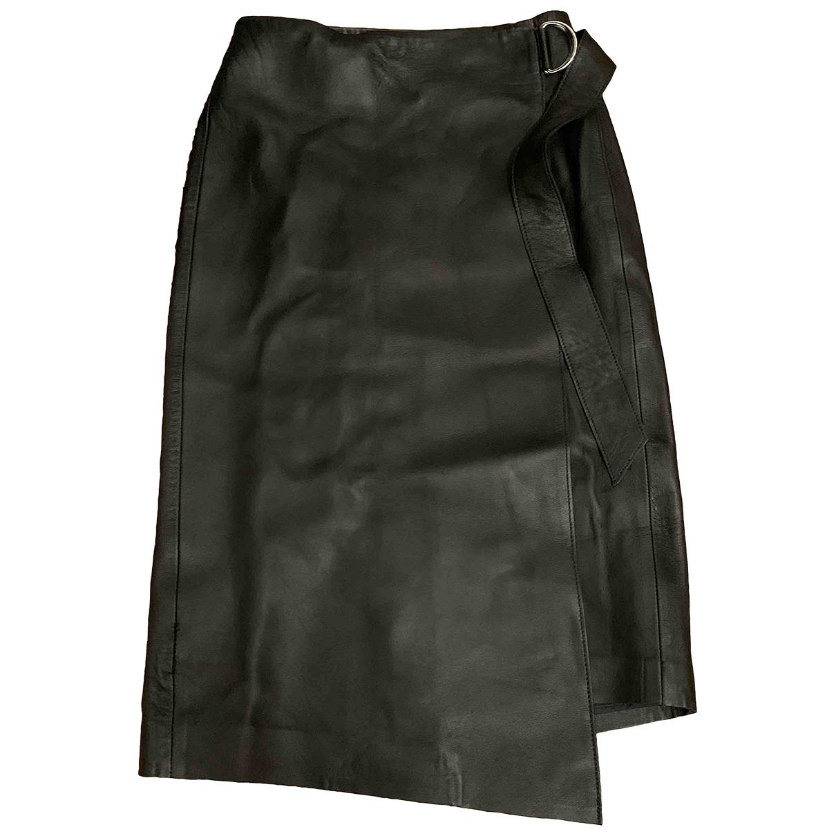 & Stories \N Black Leather skirt for Women 34 FR