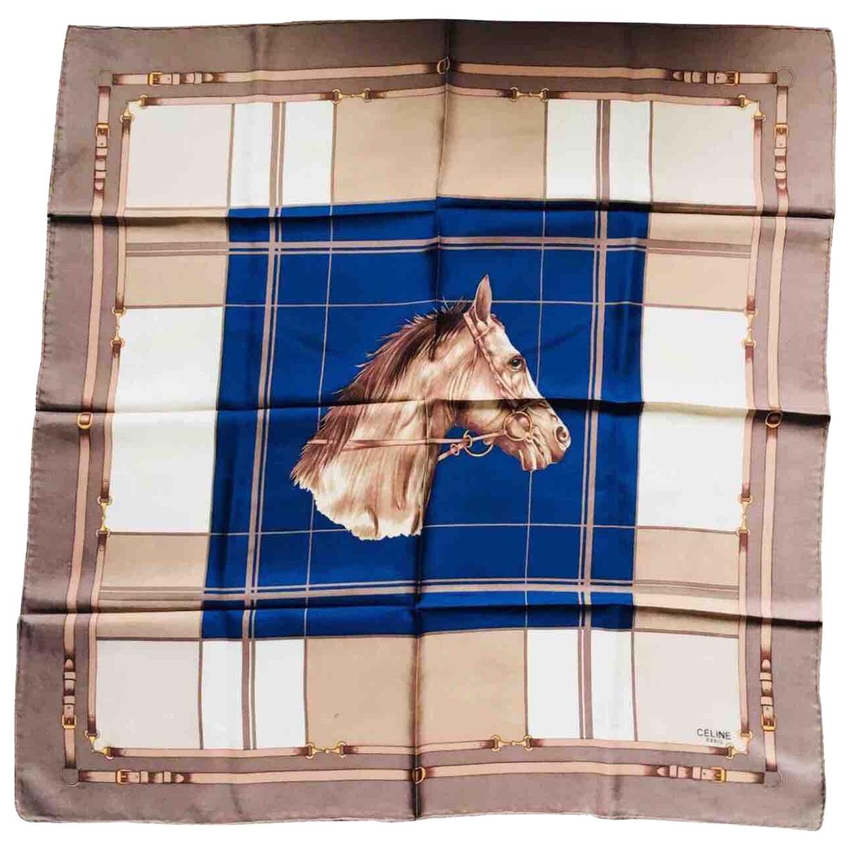 Celine \N Blue Silk scarf for Women \N