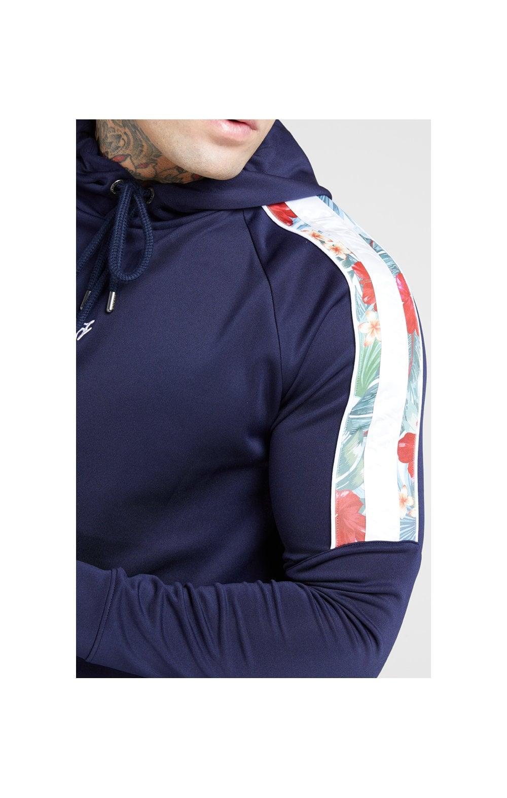 SikSilk Raglan Muscle Fit Overhead Hoodie - Navy  MEN SIZES TOP: Large